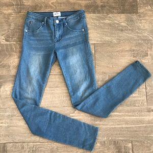 Hudson skinny jeans size 14 girls light wash